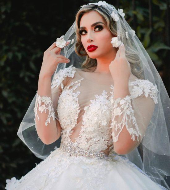 vestidos de novia princesa manga larga bordados