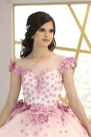 vestidos de 15 años en color rosa