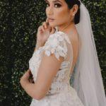 vestidos de novia con encaje manga bordados 2