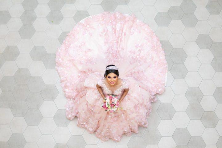 vestidos de xv años color palo de rosa